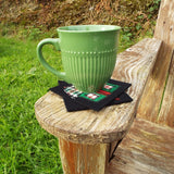 Black Felt Cottage Coaster