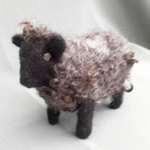 Black Sheep - Needle Felt Art - STDAVIDS.WALES