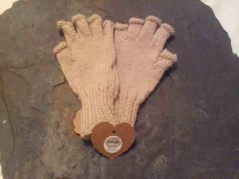 Welsh Alpaca Camel Finger less Gloves (Small)