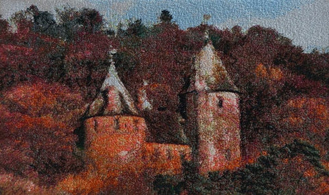 STDAVIDS.WALES:Embroidered Art - Castell Coch:DK Embroidery Designs:Art