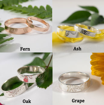 STDAVIDS.WALES:Botanical Wedding Bands:Fragment Designs:Rings