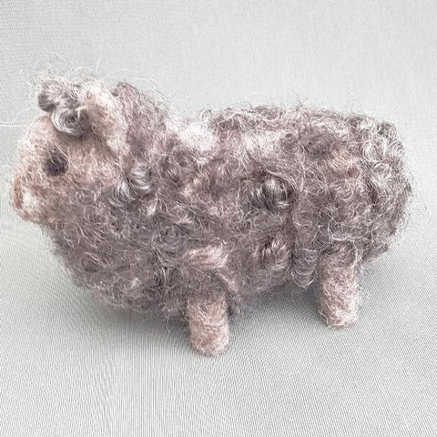 STDAVIDS.WALES:Grey Sheep - Needle Felt Art:Needle Felting Joy:Sheep