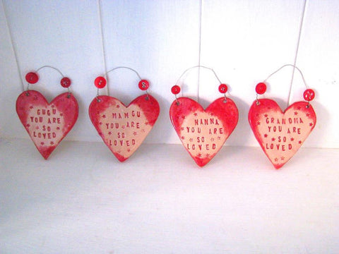 "STDAVIDS.WALES:""You Are So Loved"" Personalised Heart Decoration:Love and Lovelier:Accessories"
