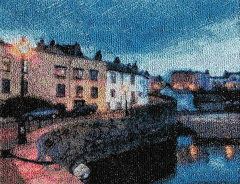 STDAVIDS.WALES:Embroidered Art - Tenby 1:DK Embroidery Designs:Art