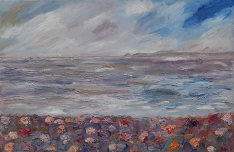 STDAVIDS.WALES:Newgale Mixed Media - 80x120cms (Canvas):Sam Howley:Paintings