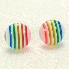 Rainbow stud Earrings - STDAVIDS.WALES