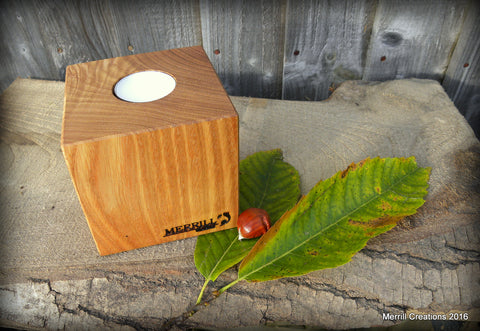 STDAVIDS.WALES:Sweet Chestnut Candle Cube:Merrill Creations:Candle