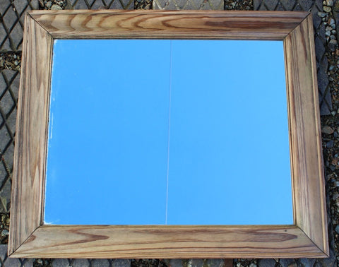 Reclaimed solid wood mirror