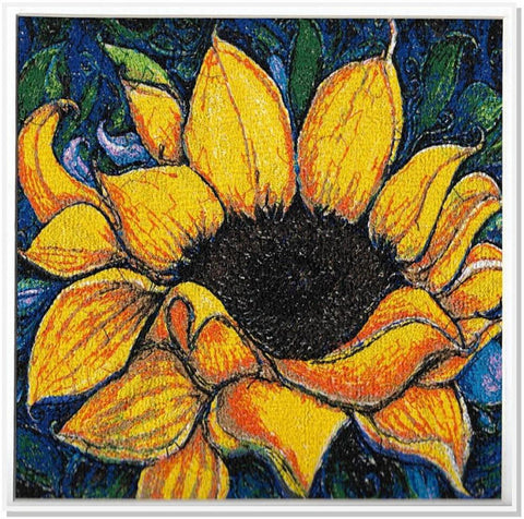 STDAVIDS.WALES:Embroidered Art - The Sunflower:DK Embroidery Designs:Art