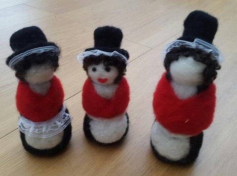 STDAVIDS.WALES:Welsh Ladies - Needle Felt Art:Needle Felting Joy:Sheep