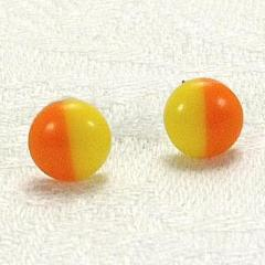 Yellow & Orange stud Earrings