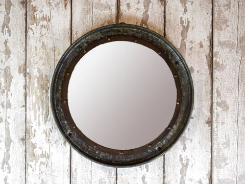 Large Vintage Wooden Indian Door Frame Mirror REF-540