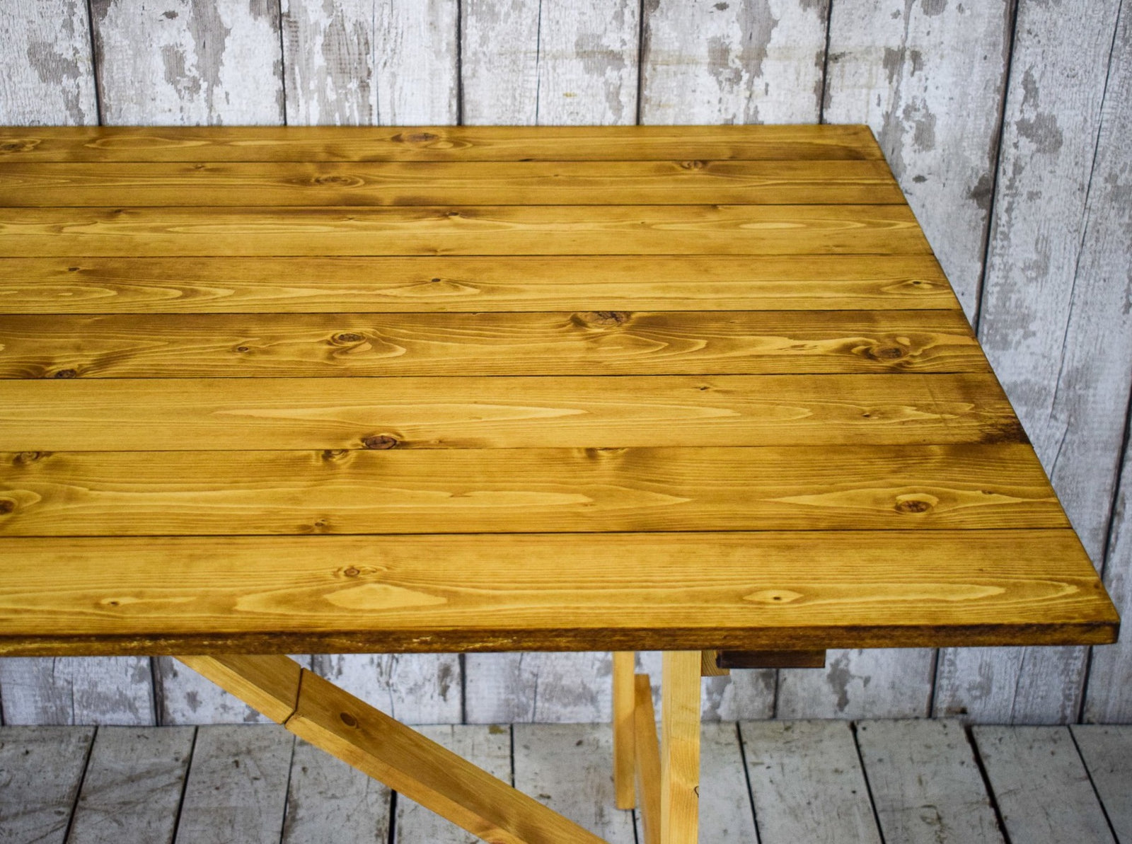 7ft x 3ft Vintage Style Pine Trestle Kitchen Dining Wedding Table LOTS AVAILABLE
