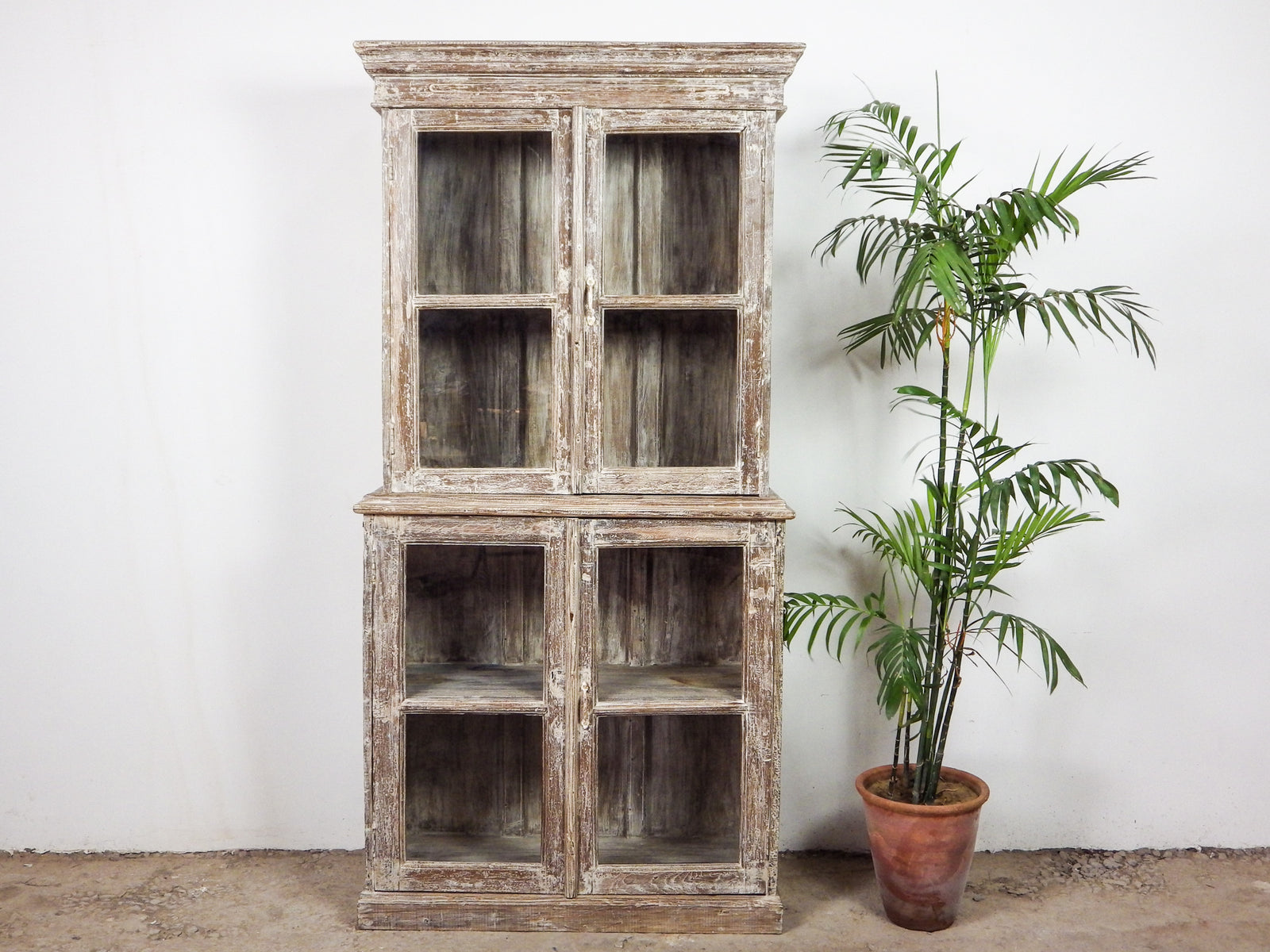 Rare Vintage Antique Rustic Metal Wooden Cupboard Cabinet Industrial (REF465)