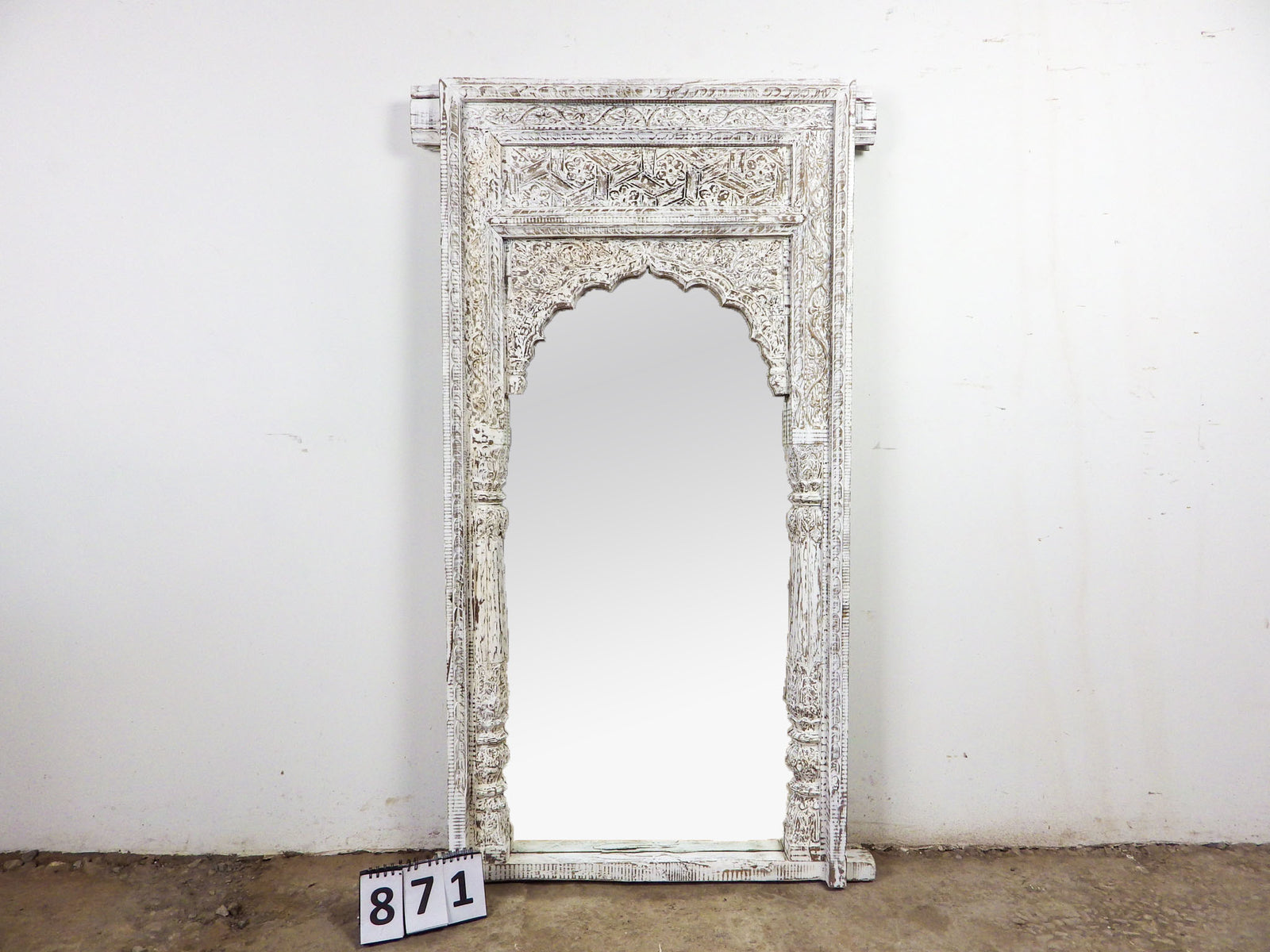 MILL-871/3 Wooden Arch Mirror 5ft