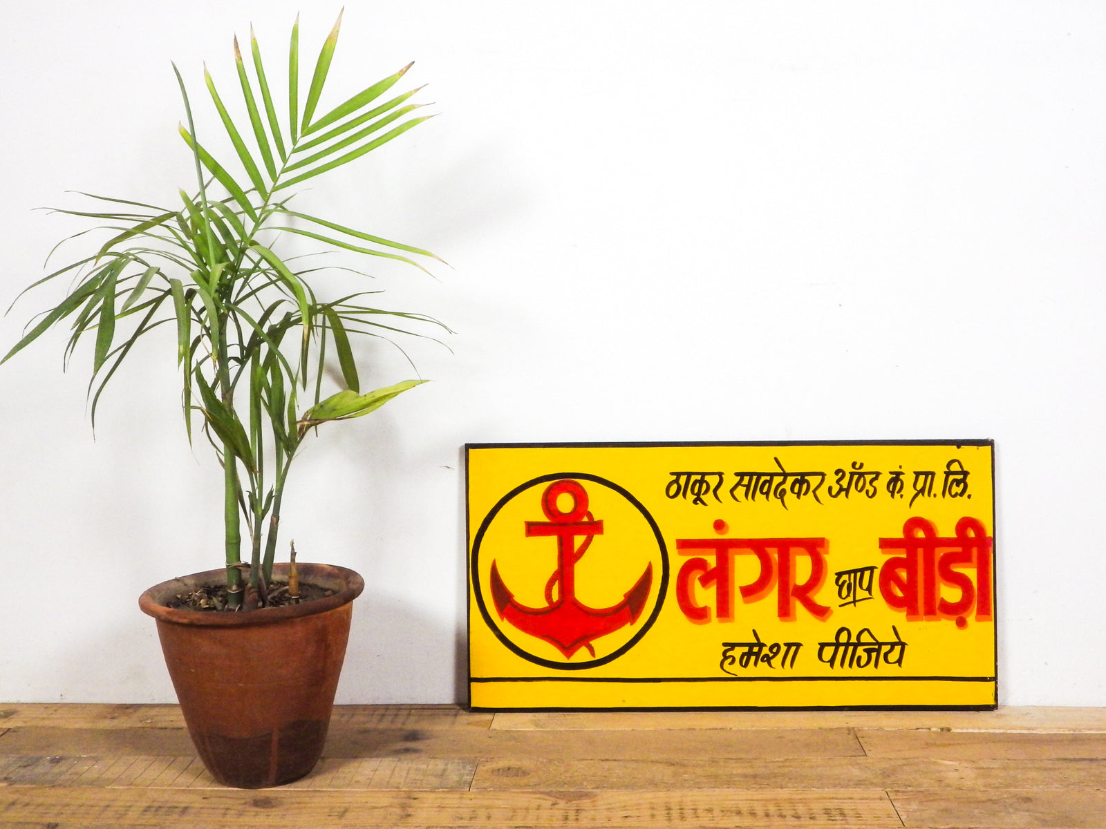 Vintage Worn Blue Painted Cabinet Cupboard Kitchen (REF474)