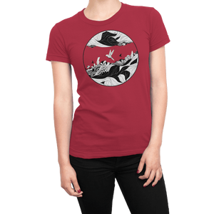 Red Fantasy - Women's Tee T-shirt by DIRT & GLORY