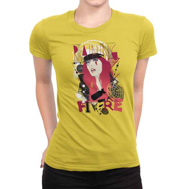 Raining Fire Women's Tee by DIRT & GLORY