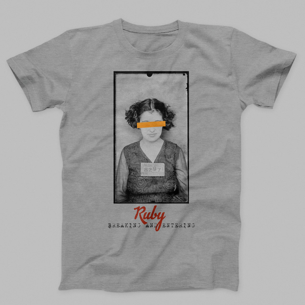 Ruby Mugshot Men's/Unisex T-shirt by DIRT & GLORY