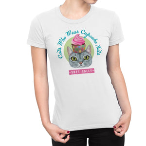 Soft Sally - Cats who wear cupcake hats T-shirt by DIRT & GLORY
