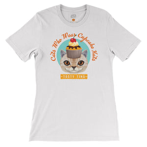 Tasty Tina - Cats who wear cupcake hats T-shirt by DIRT & GLORY