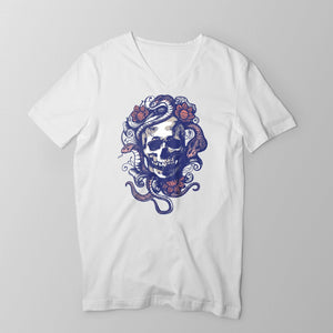 Snake Head Men's/Unisex V-Neck T-Shirt T-shirt by DIRT & GLORY