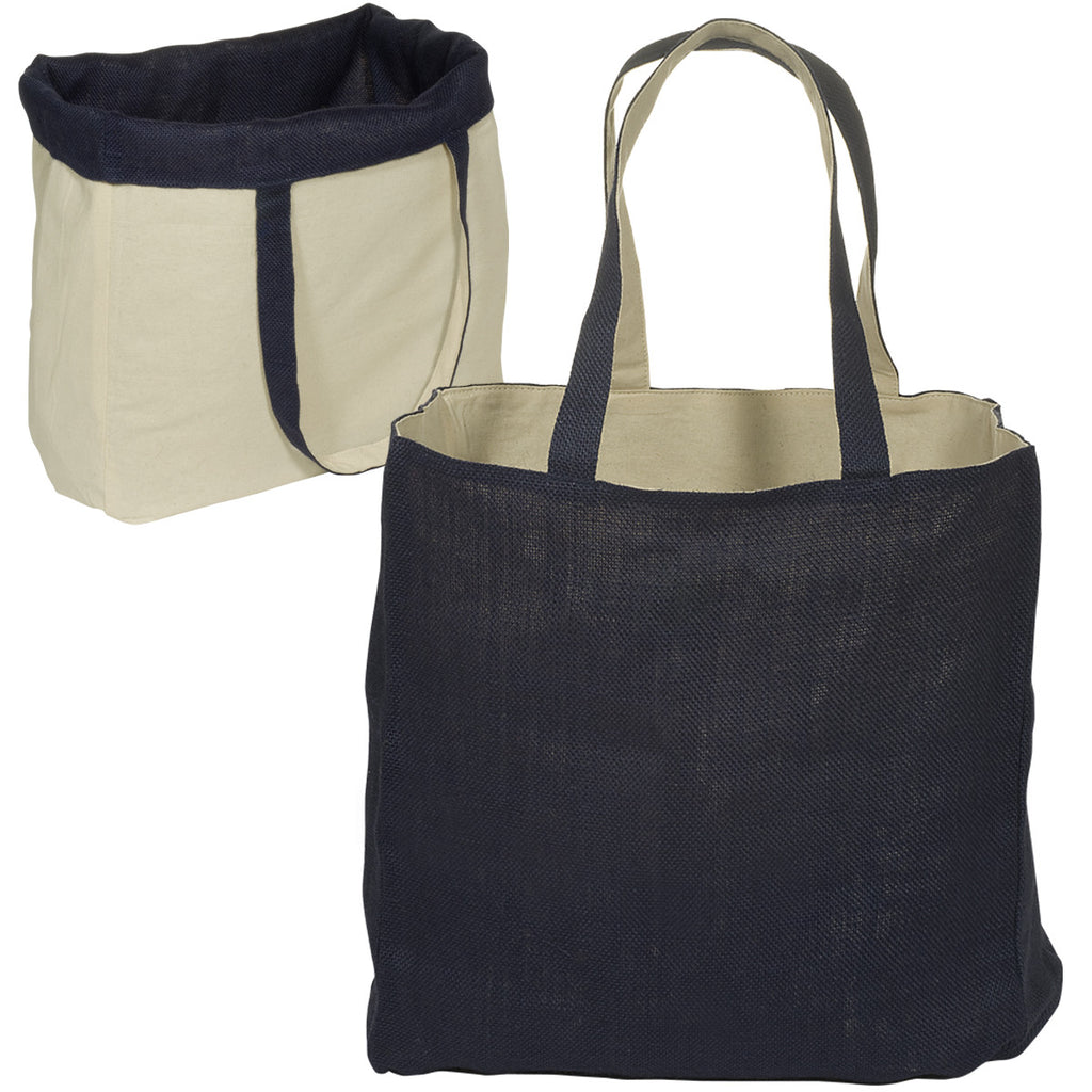 Reversible Jute/Cotton Tote - The Persnickety Bride