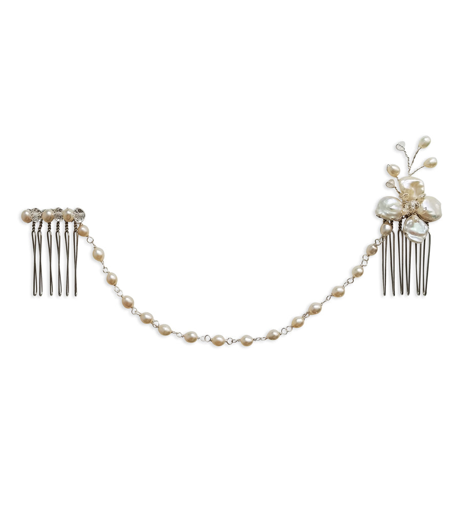 Adelaide Crystal & Pearl Headpiece