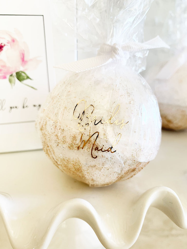 Bridal Party Proposal Bath Bombs - The Persnickety Bride