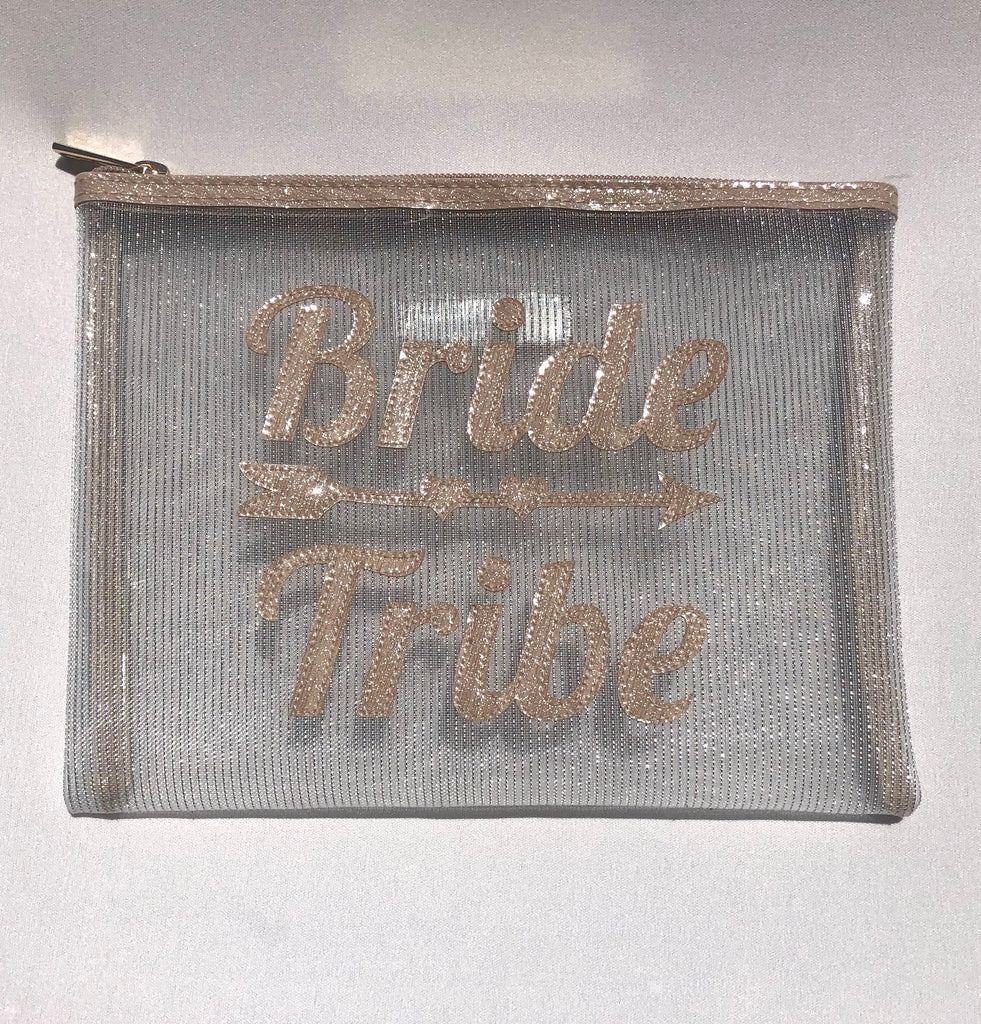 Bride Tribe & Arrow Mesh Bag - The Persnickety Bride