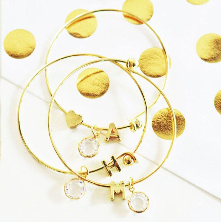 Child's Gold Monogram Bracelet - The Persnickety Bride