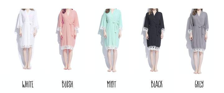 Mrs. Personalized Cotton Lace Robes - The Persnickety Bride