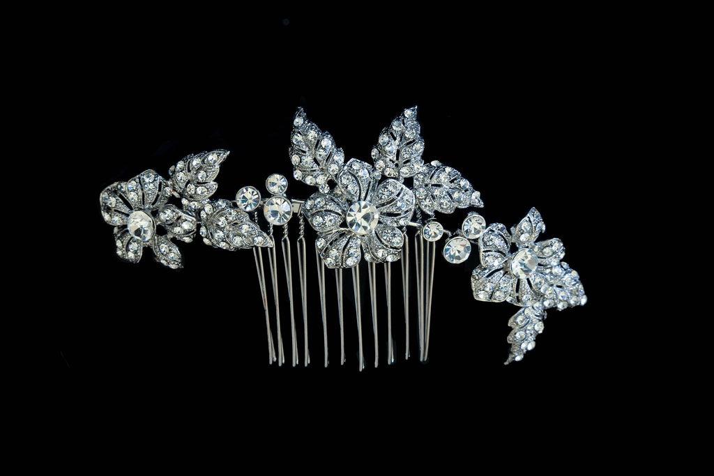 Crystal Bliss Comb Headpiece - The Persnickety Bride
