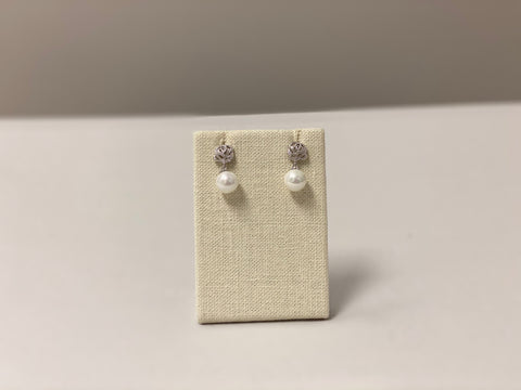 Belle Pearl & Rock Quartz Earrings