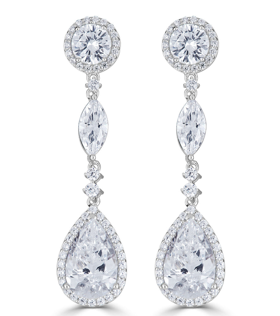 Duchess Trio Drop Earrings - The Persnickety Bride