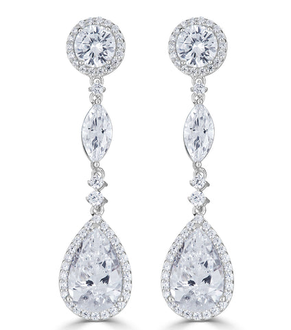 Ava Halo Teardrop Earrings