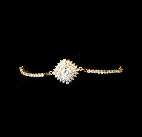 Ava Marquise and Round Diamond Bracelet