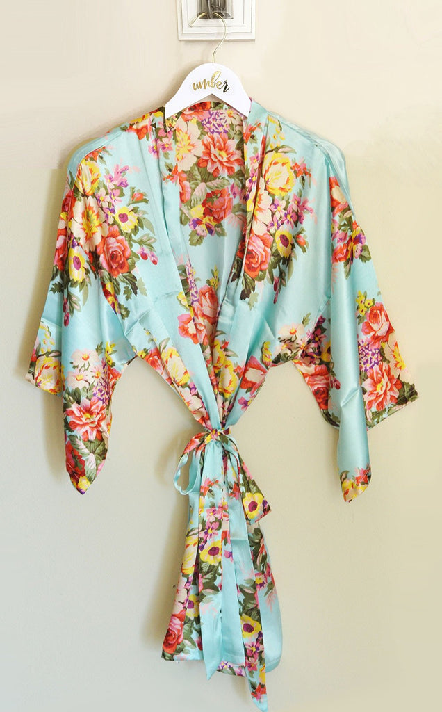 Floral Robe - The Persnickety Bride