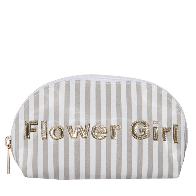 Striped Flower Girl Travel Pouch - The Persnickety Bride