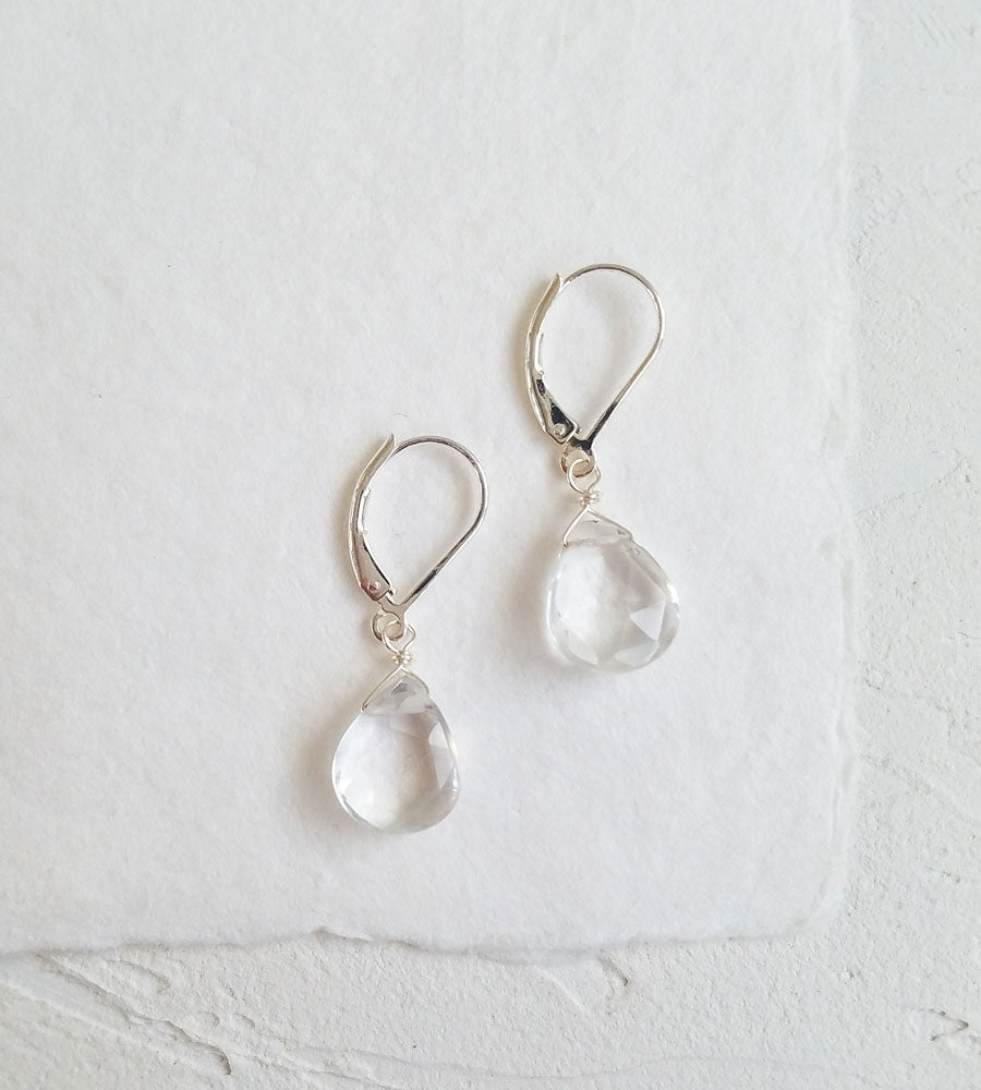 Grace Rock Quartz Earrings