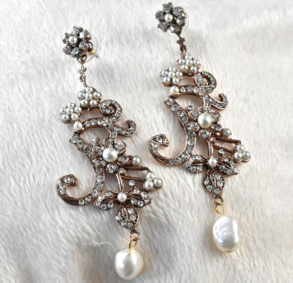 Garland Chandelier Earrings - The Persnickety Bride