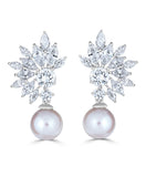 Grace Marquise Burst Freshwater Pearl Earrings - The Persnickety Bride