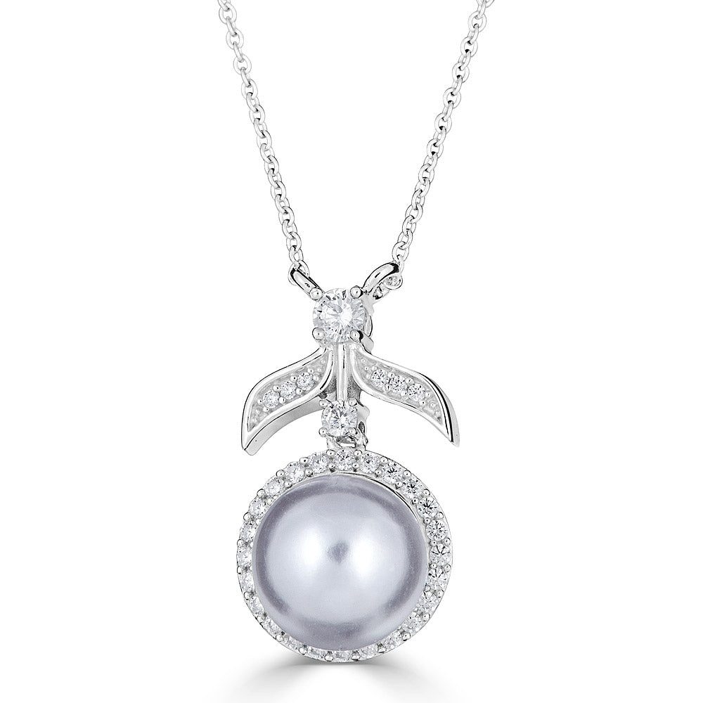 Hollywood Halo Pearl Pendant - The Persnickety Bride