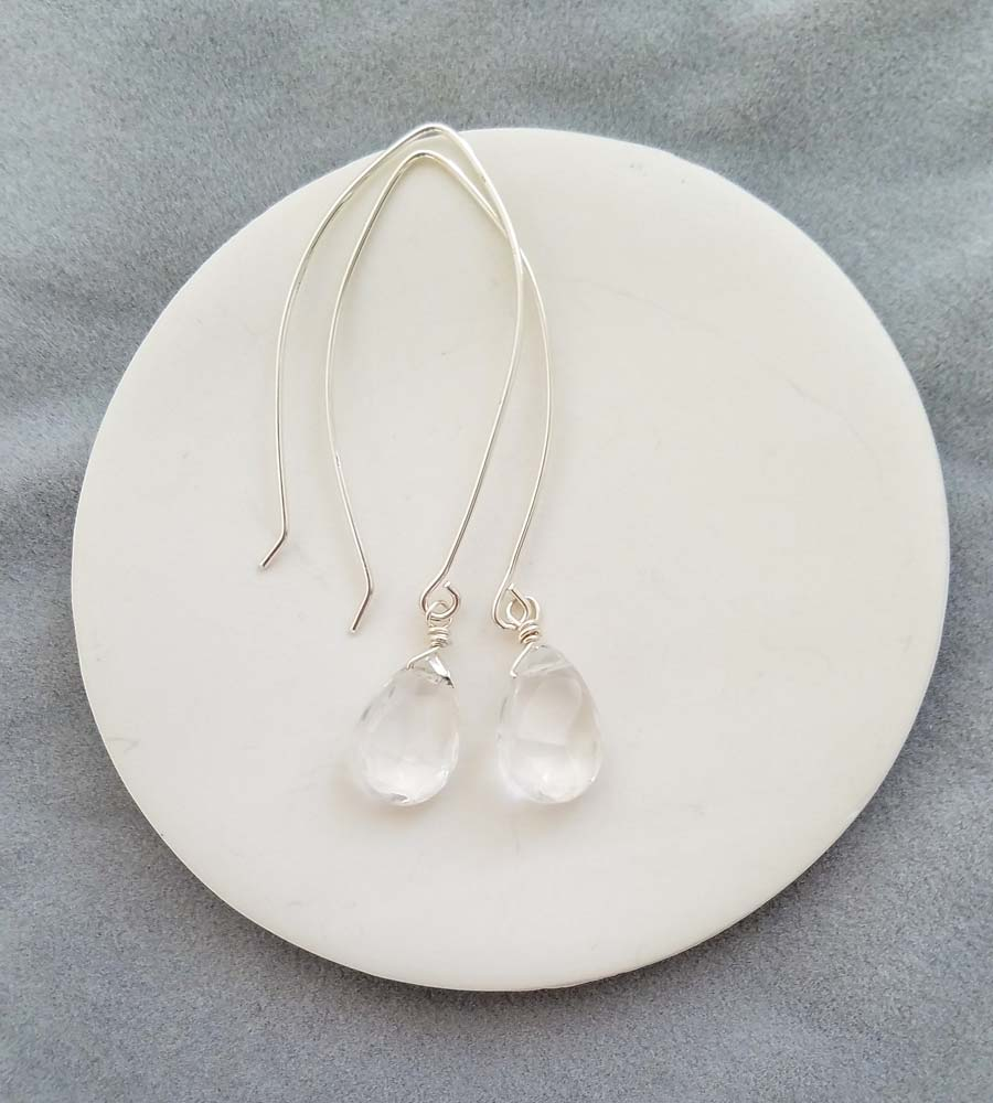 Joy Rock Quartz Earrings