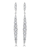 Karolyne Tapered Sparkling Drop Earrings - The Persnickety Bride