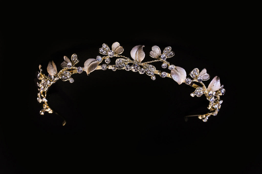 Light Rose Gold Boho Headpiece - The Persnickety Bride