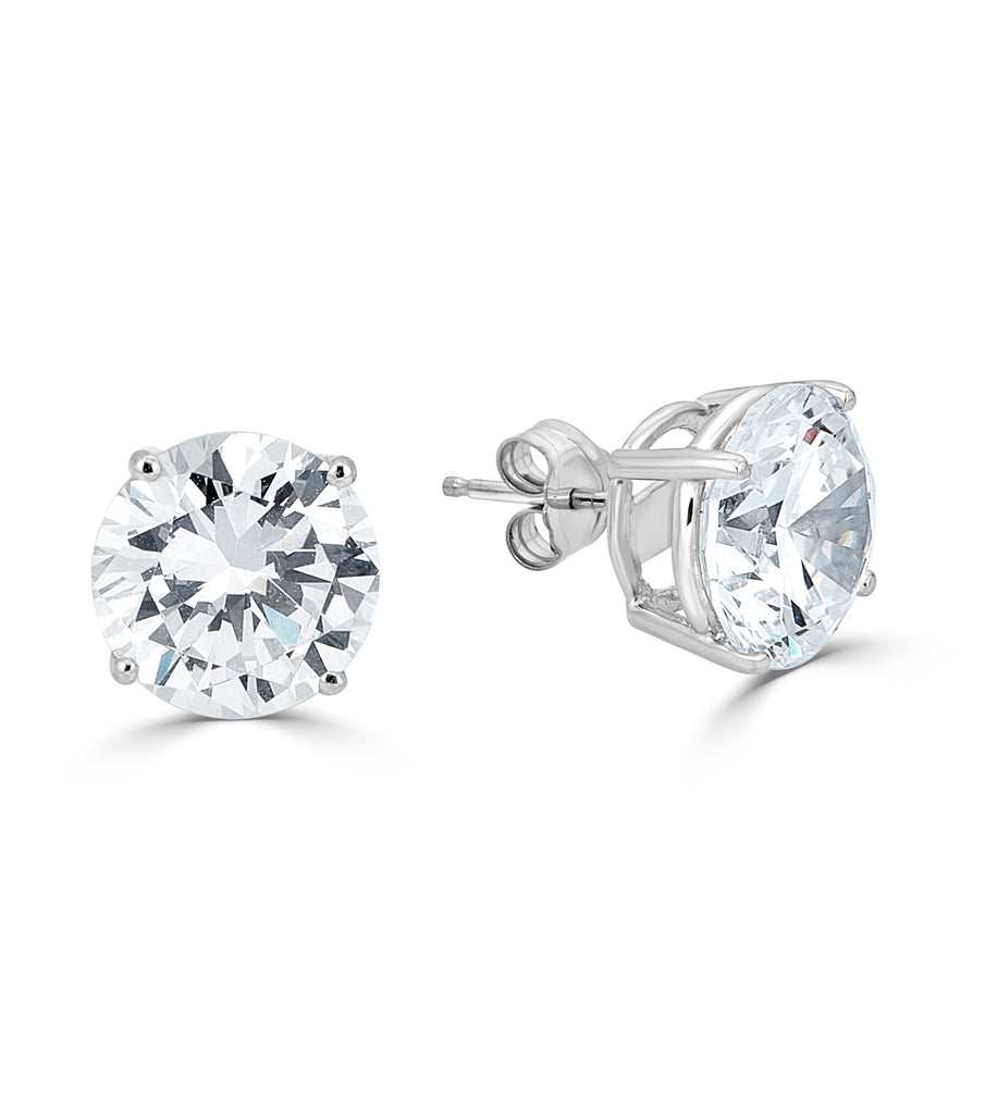 Liz Round 10mm Stud Earrings - The Persnickety Bride