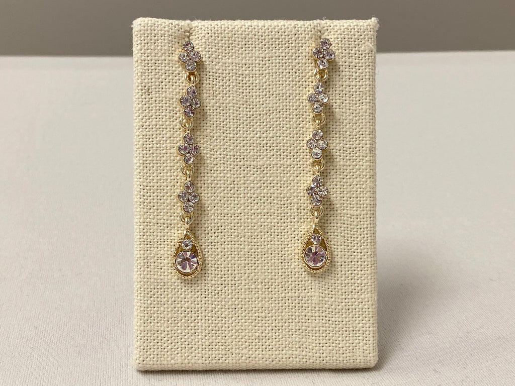 Longing Drop Crystal Earrings - The Persnickety Bride