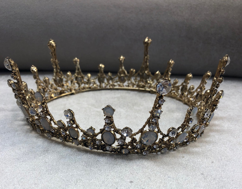 Gold rhinestone crown - The Persnickety Bride