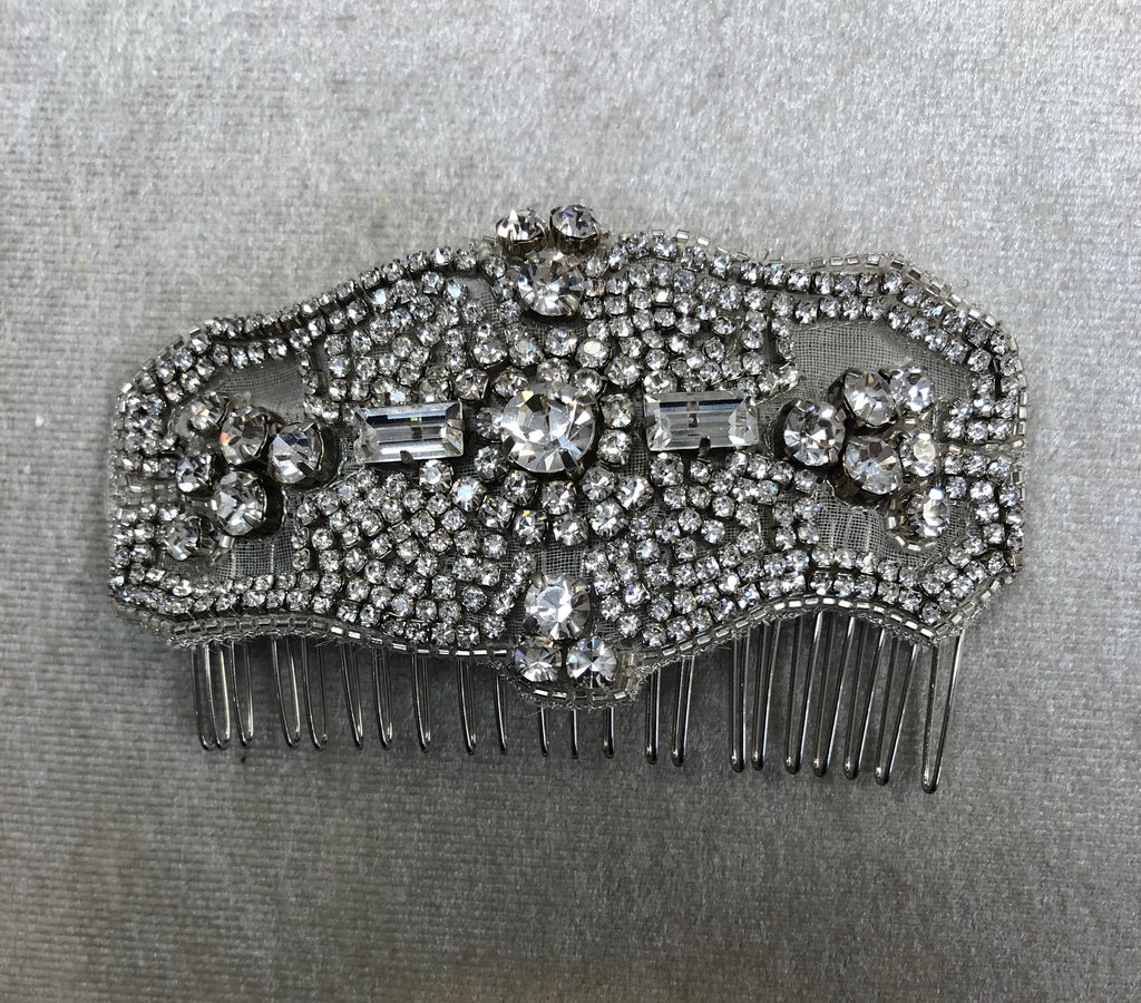 Silver with rhinestones headpiece